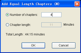 add equal length chapters