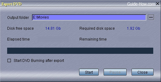 export dvd movie