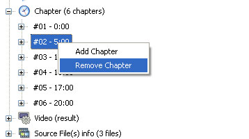 remove a chapter in convertxtodvd